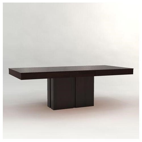 Canadel Custom Dining Customizable Rectangular Table With Pedestal - Dining table pedestal base