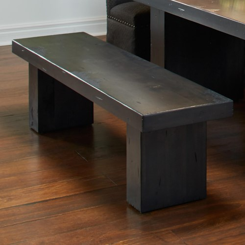 Canadel Loft - Custom Dining Customizable Bench with Block Legs