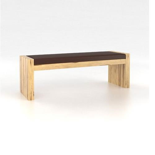 Canadel Loft - Custom Dining Customizable Upholstered Bench with Block Legs