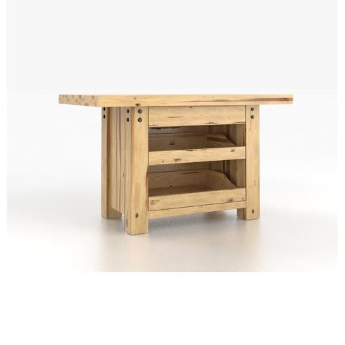 Canadel Loft - Custom Dining Customizable Island Table with 3 Drawers