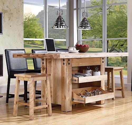Canadel Loft - Custom Dining Customizable Island Table Set