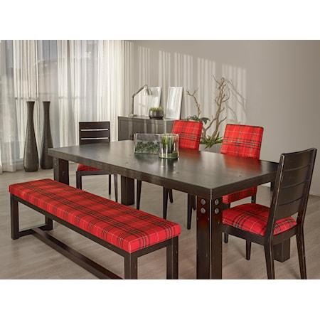 <b>Customizable</b> Rectangular Table Set