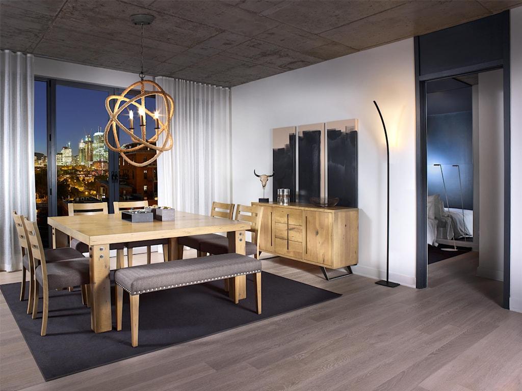 Canadel Loft - Custom Dining<b>Customizable</b> Upholstered Dining Bench