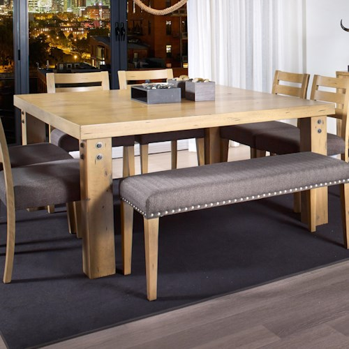Canadel Loft - Custom Dining Customizable Square Dining Table with Rivets