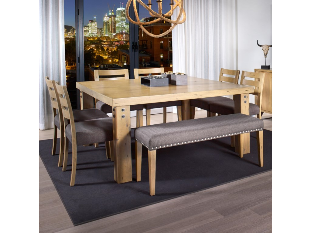 Canadel Loft Custom Dining Customizable Square Dining Table Set