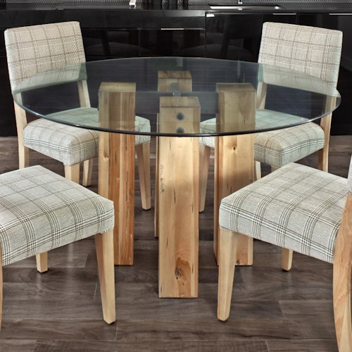 Canadel Loft - Custom Dining Customizable Round Glass Top Table