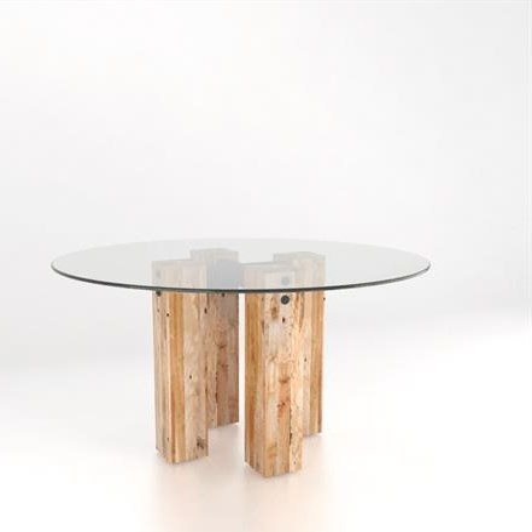 Canadel Loft - Custom Dining<b>Customizable</b> Round Glass Top Table