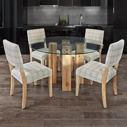 Canadel Loft - Custom Dining Customizable Round Glass Top Table Set