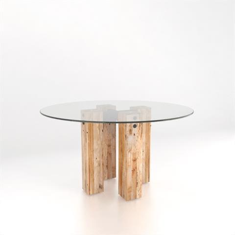 Canadel Loft - Custom DiningCustomizable Round Glass Top Table Set