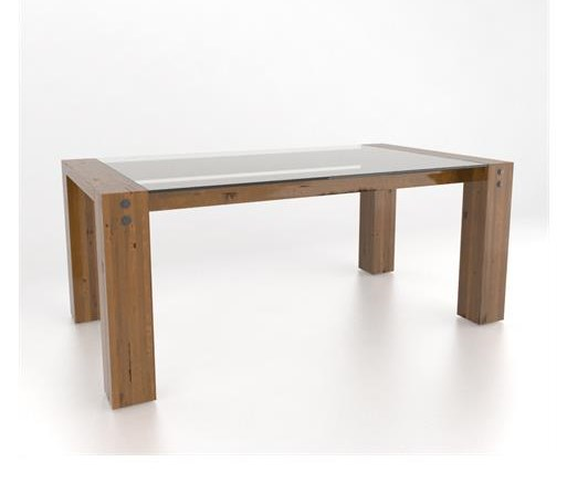 Canadel Loft - Custom DiningCustomizable Glass Top Dining Table