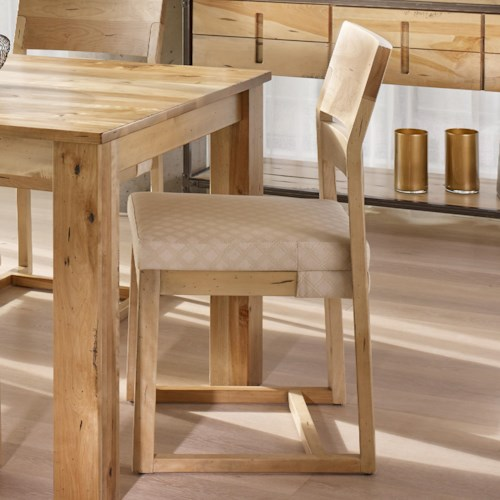 Canadel Loft - Custom Dining Customizable Side Chair with Upholstered Seat