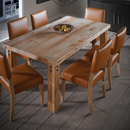 Canadel Loft - Custom Dining Customizable Rectangular Table Set
