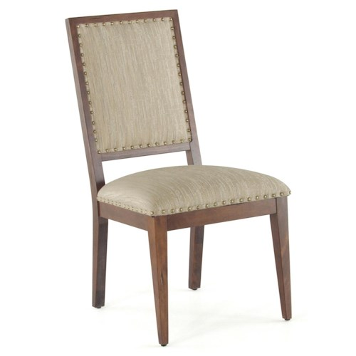 Canadel Loft - Custom Dining Customizable Upholstered Side Chair with Nailhead Trim