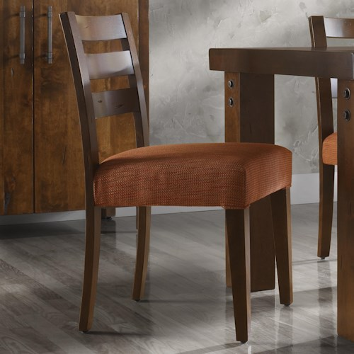 Canadel Loft - Custom Dining Customizable Upholstered Side Chair with Ladder Back