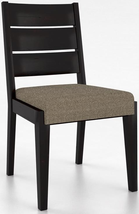 Canadel Loft Customizable Side Chair with Ladder Back & Upholstered Seat