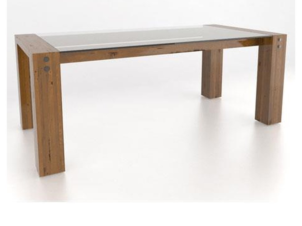 Canadel Loft<b>Customizable</b> Glass Top Dining Table