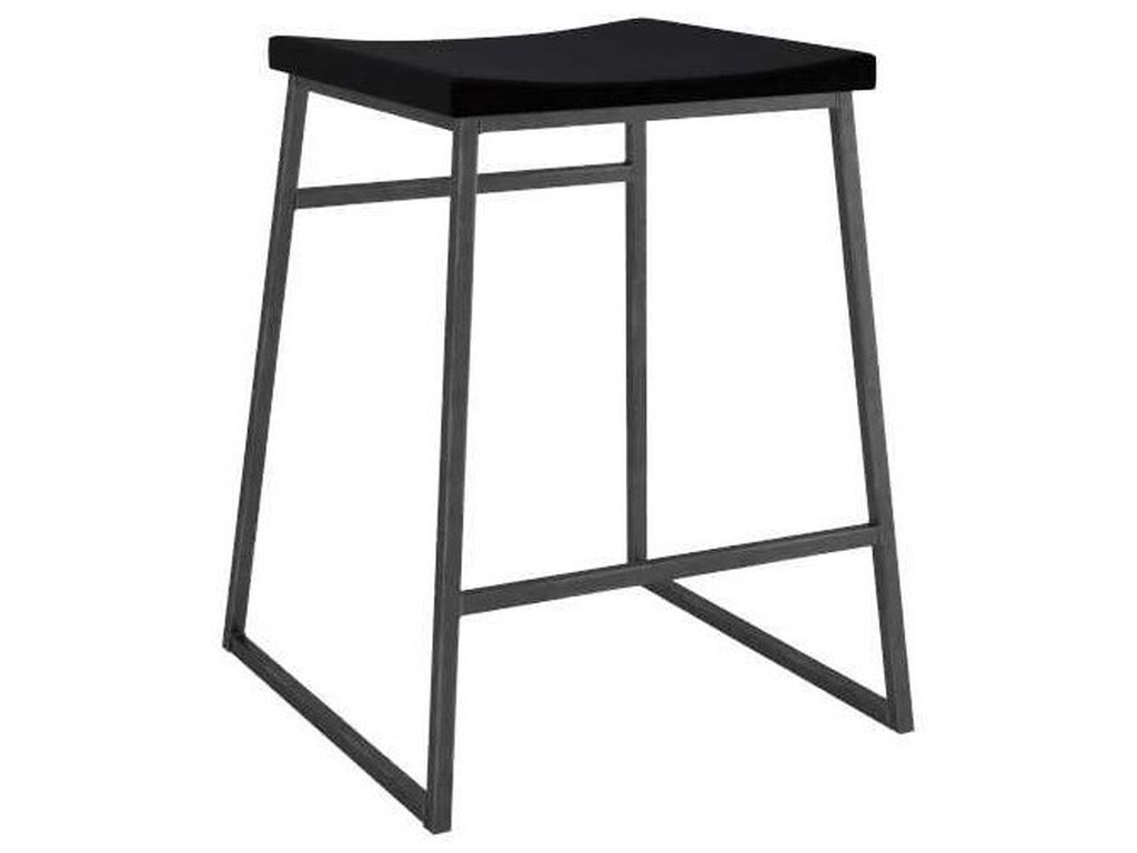 Canadel LoftCustomizable Metal Stool w/ Upholstered Seat