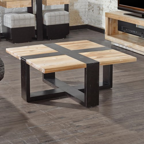 Canadel Loft - Living Customizable Square Coffee Table