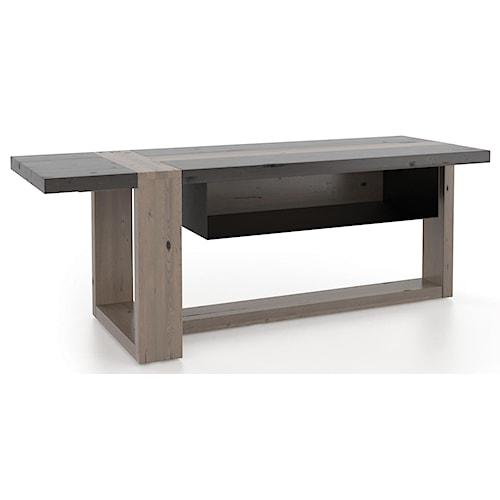 Canadel Loft - Living Contemporary Customizable Media Unit with Metallic Suspended Shelf