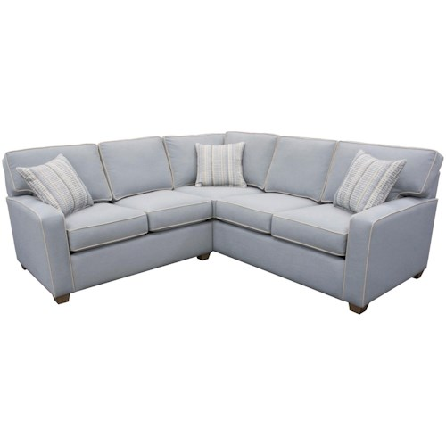 Capris Furniture 145 Two Piece Corner Sectional Sofa
