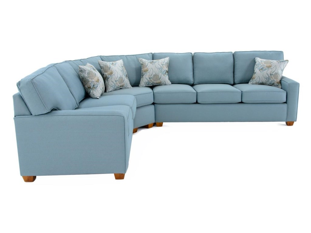 Capris Furniture 1453 Pc Sectional Sofa w/ Sleeper