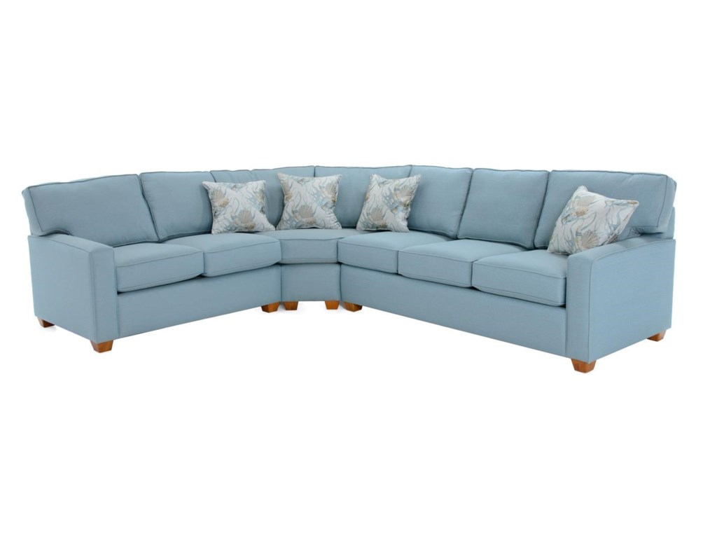 Capris Furniture 145 145 Sect 1 Three Piece Sectional Sofa Baer S