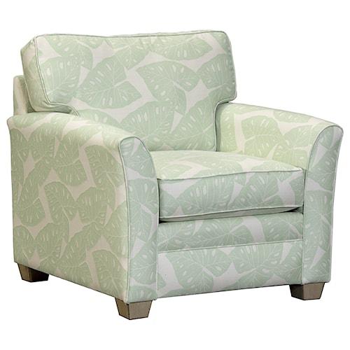 Capris Furniture 202 Casual Flared Arm Chair