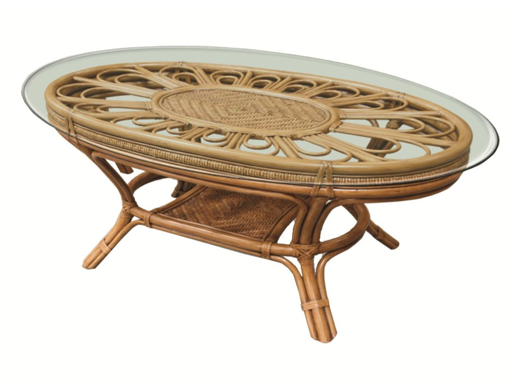 Capris Furniture 321 CollectionWicker Rattan Cocktail Table