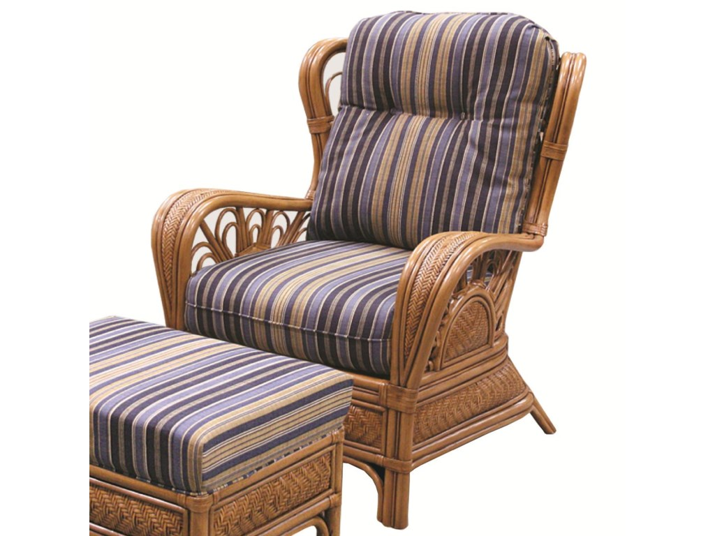 Capris Furniture 321 CollectionExposed Rattan Chair
