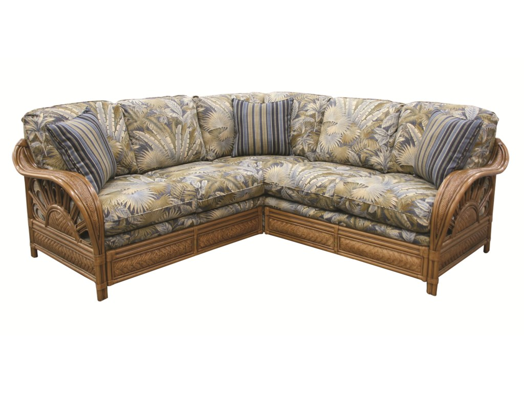 Capris Furniture 321 CollectionWicker Rattan Sectional
