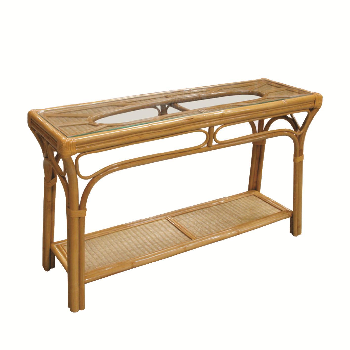 capris furniture 381 collection wicker rattan glass top sofa table furniture consolesofa table