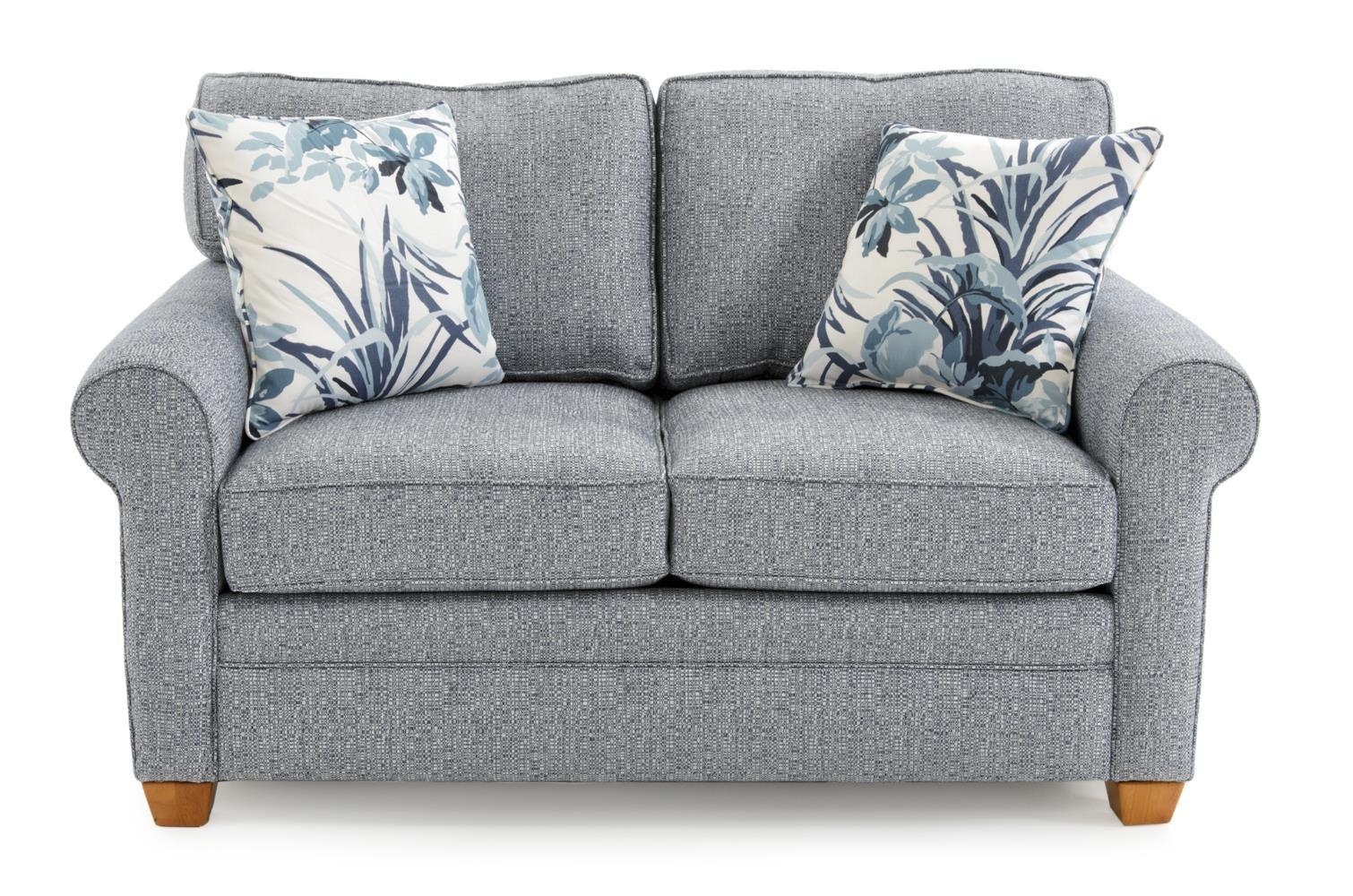 capris furniture 402 casual rolled arm loveseat baeru0027s furniture love seats