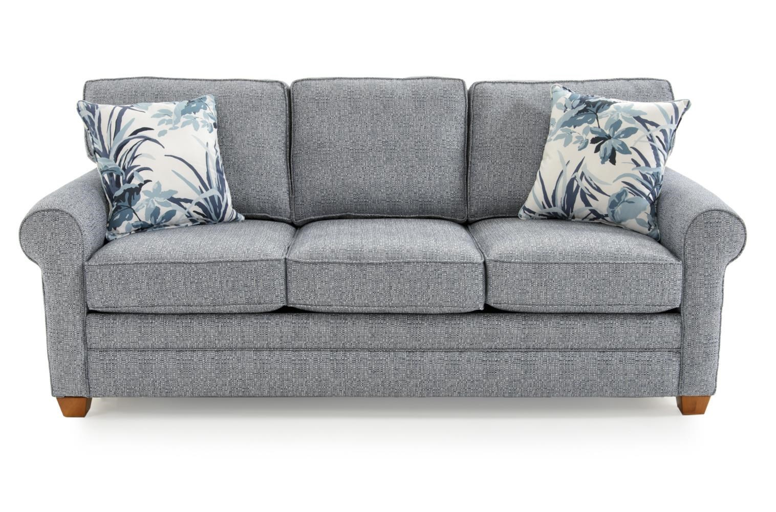 Awesome Casual Rolled Arm Sleeper Sofa