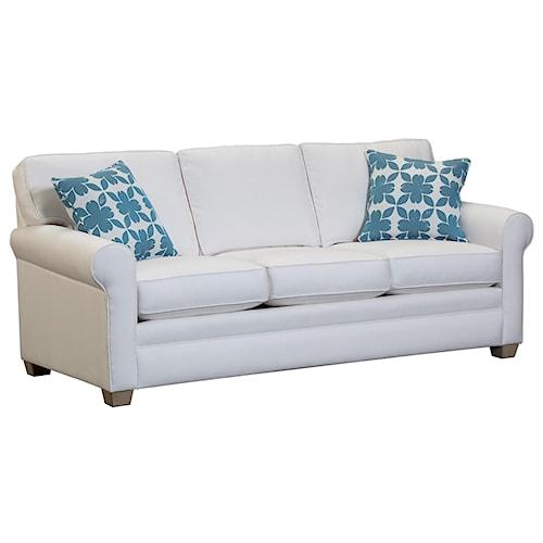 Capris Furniture 402 Casual Rolled Arm Sleeper Sofa