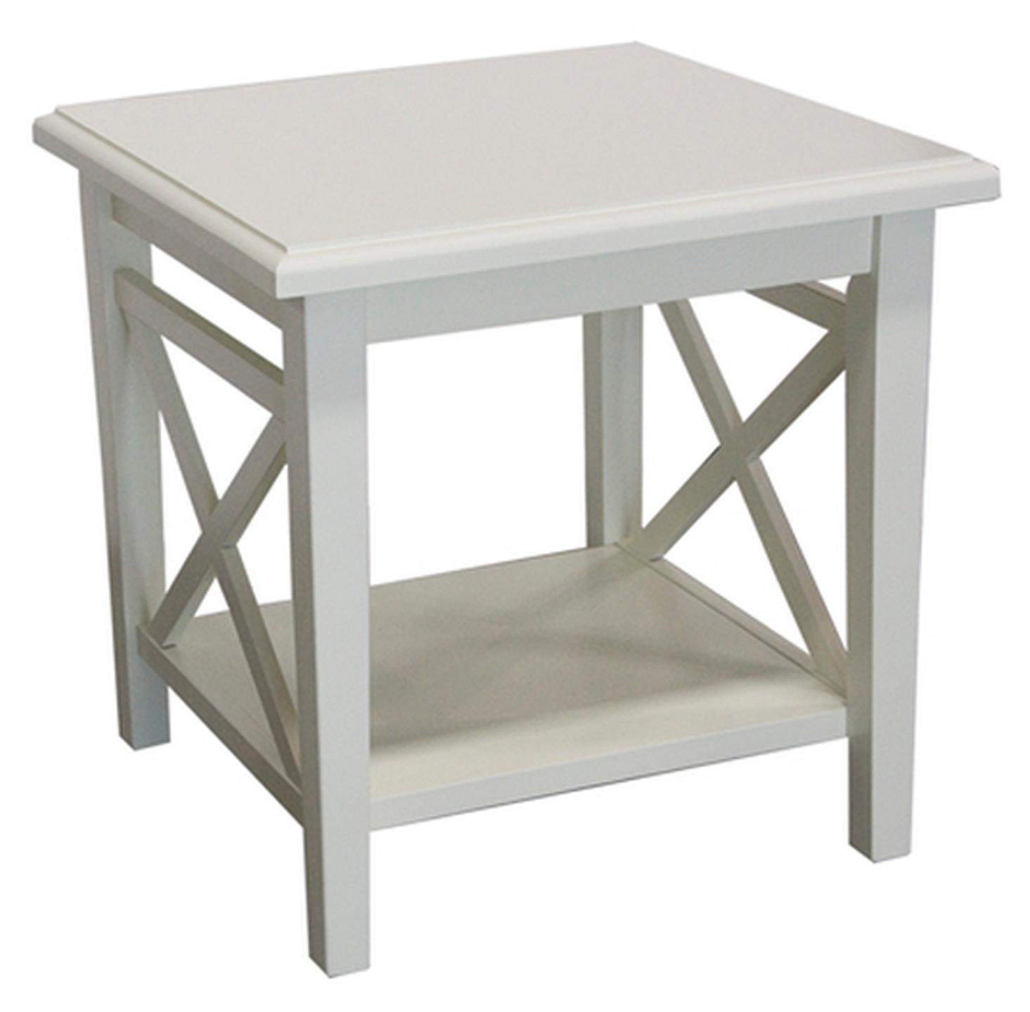 capris furniture 747 cottage white lamp table furniture end table
