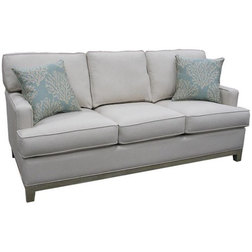 Capris Furniture 752 Stationary Sofa W Accent Pillows