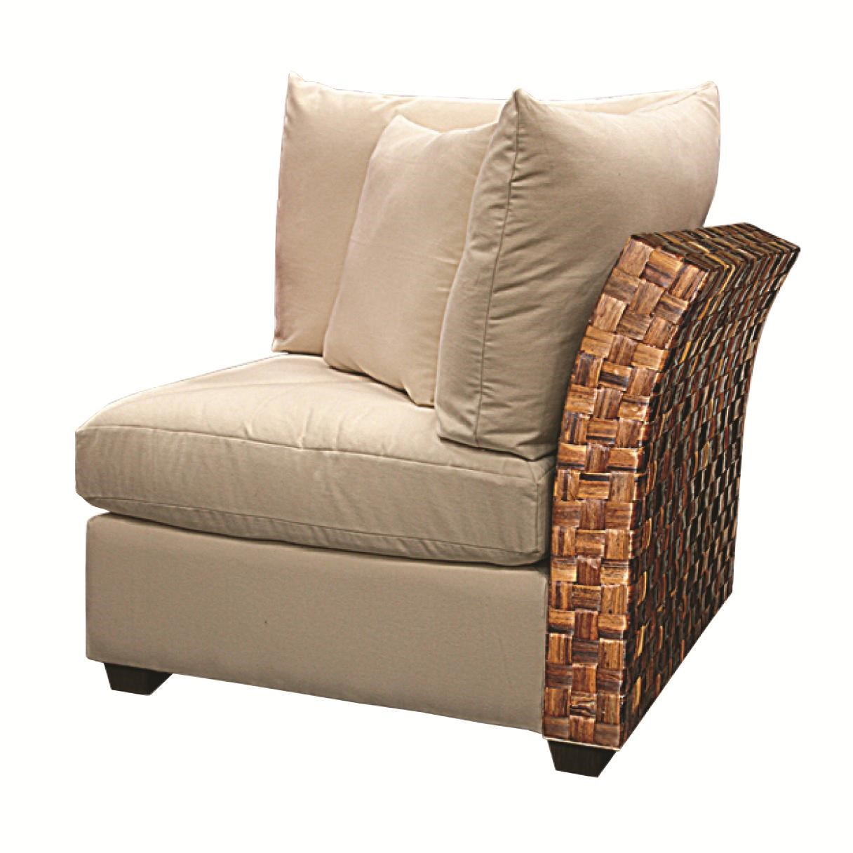 Capris Furniture Chairs And Ottomans Wicker Rattan Armless