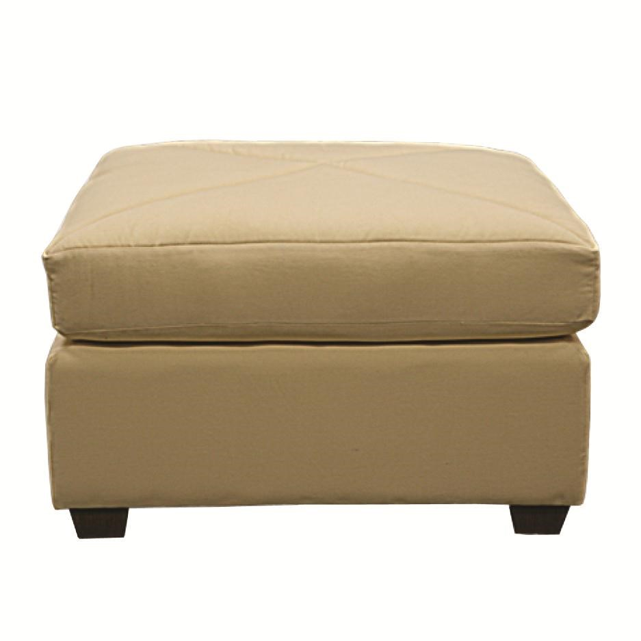 Capris Furniture Chairs And Ottomans Casual Square Ottoman   Hudsonu0027s  Furniture   Ottomans