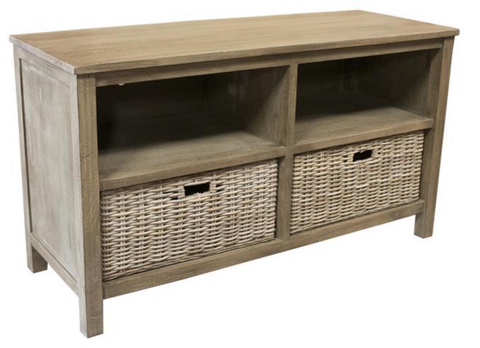 Capris Furniture Television Stands Television Stand W/ 2 Basket Shelves    Hudsonu0027s Furniture   TV Or Computer Unit