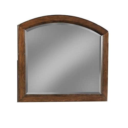 Easton Collection Blue Ridge Cherry Arched Mirror
