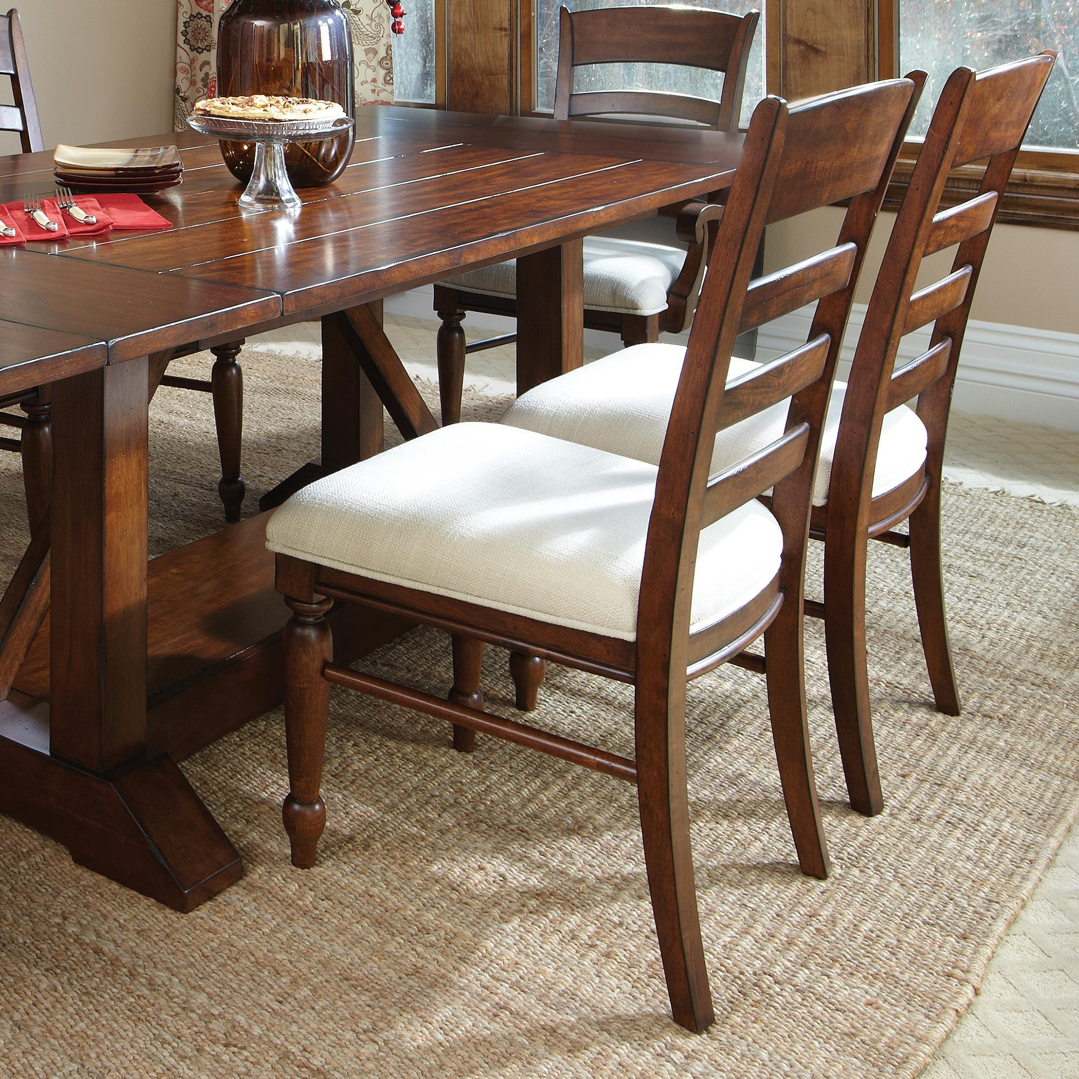 Ordinaire Carolina Preserves By Klaussner Blue RidgeCherry Ladder Back Side Chair ...