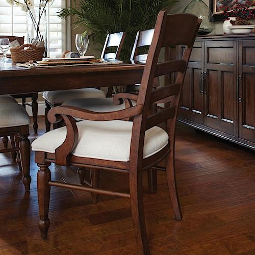 Easton Collection Blue Ridge Cherry Ladder Back Arm Chair