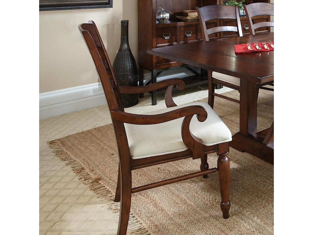 Carolina Preserves by Klaussner Blue RidgeCherry Ladder Back Arm Chair