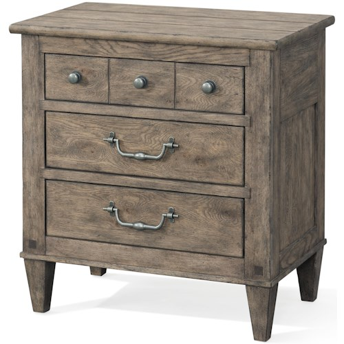 Carolina Preserves by Klaussner Riverbank 3 Drawer Night Stand with Power Box