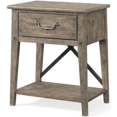 Carolina Preserves by Klaussner Riverbank 'North Fork' 1 Drawer Night Stand