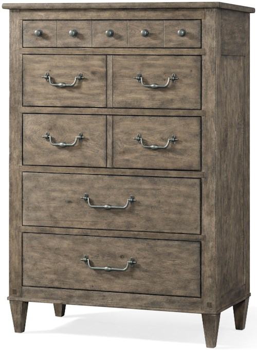 Carolina Preserves by Klaussner Riverbank 5 Drawer Chest with Hidden Jewelry Tray