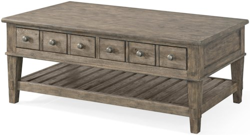 Carolina Preserves by Klaussner Riverbank 'Whitewater' 2 Drawer Cocktail Table
