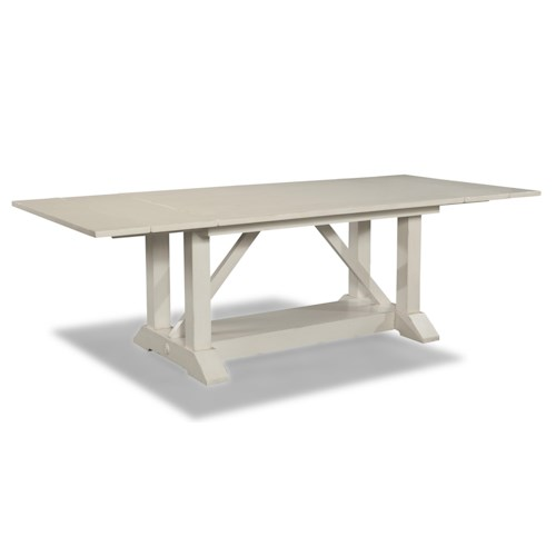 Easton Collection Sea Breeze 78'' Trestle Table with 2 Leaves