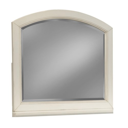 Easton Collection Sea Breeze White Arched Mirror