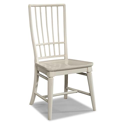 Easton Collection Sea Breeze White Rake Back Side Chair
